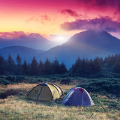 Tourist camp wallpaper